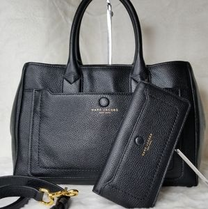 Marc JACOBS SET LEATHER 3 IN 1 BAG + WALLET